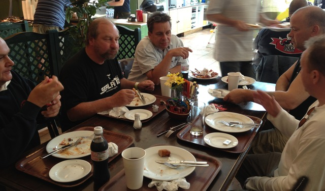 Breakfast at the Truck stop before the Ipswich Rally